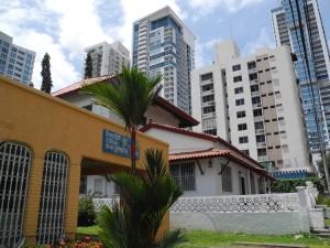 Das Hostal Casa Margarita befindet sich inmitten des Hochhausviertels San Francisco in Panama City.