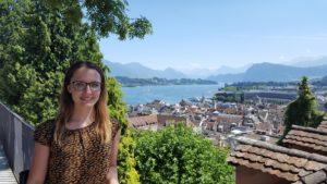Luzern zeigt sich von der besten Seite: Swetlana auf der Musegg