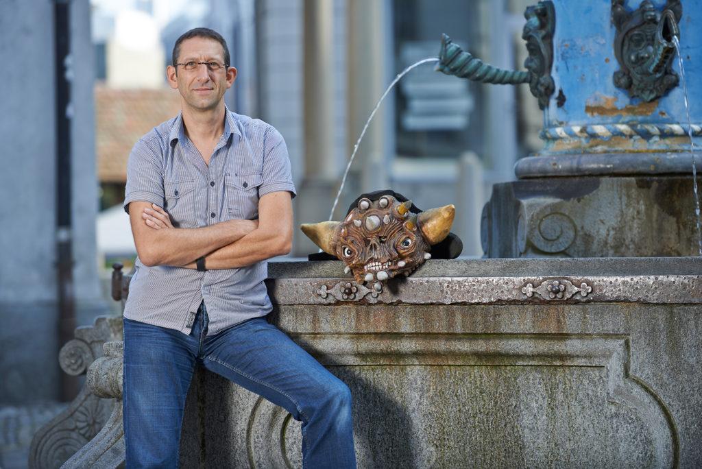 Lieblingsort von Theo Felber ist der Fritschibrunnen auf dem Kapellplatz.